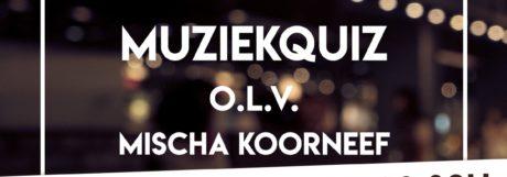 Muziekquiz door Mischa Koorneef op woensdag 18 maart gaat niet door ivm Corona!